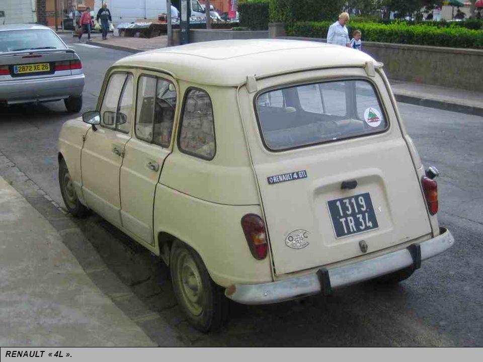 RENAULT « 4L ». Première traction avant de la Régie, pratique. Prend la relève de la précédente de 1961 à 1992.