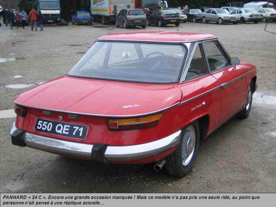 PANHARD « 24 C ».. Coupé produit de 1963 à 1967 jusquà labsorption de Panhard par Citroën qui sacrifia ce modèle…