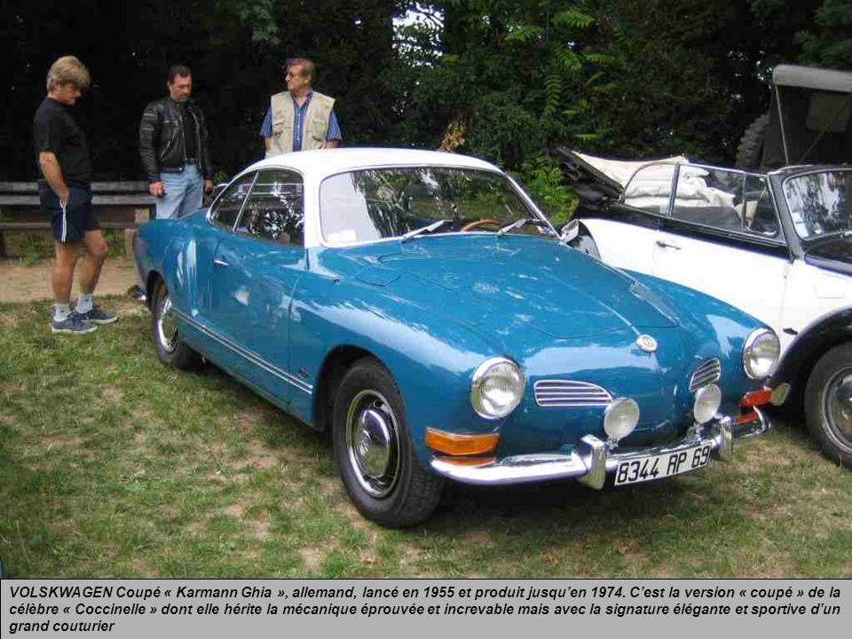 AUSTIN « Mini », anglaise, lancée en 1959. Traction avant avec un moteur transversal (première mondiale) de 850 cm3. Une vraie « 4 places », petite à