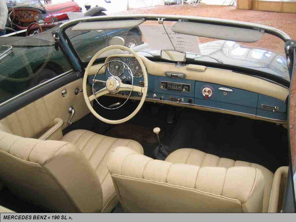 MERCEDES BENZ « 190 SL », allemande. Tout y est : le sérieux, la performance et la très grande classe !