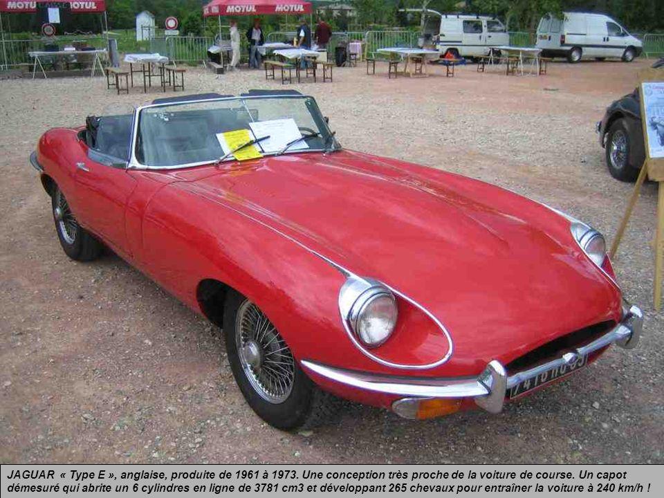 FORD « Mustang », américaine, de la série des années 1964 à 1966. Un modèle sauvage qui a soif de grands espaces !