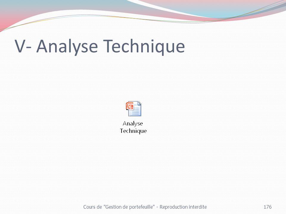 V- Analyse Technique Cours de