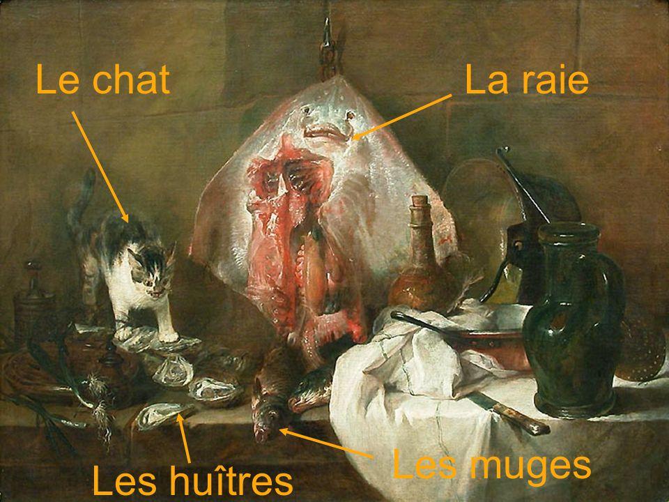 Le chat Les huîtres La raie Les muges