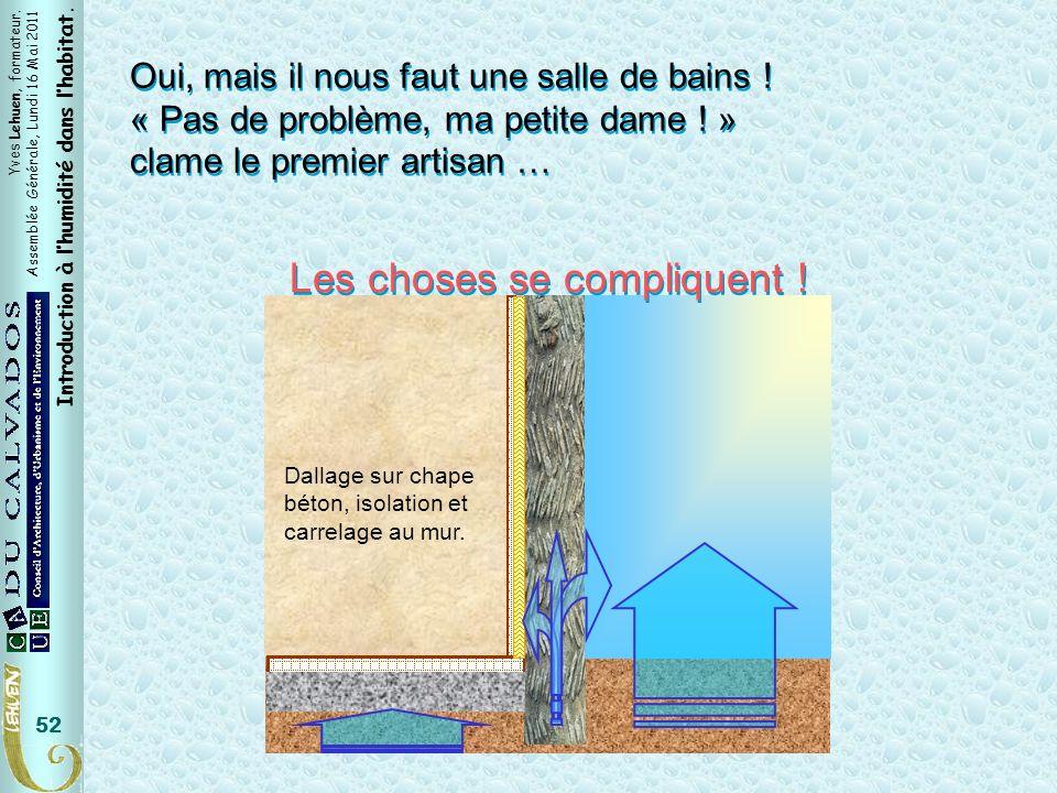 Yves Lehuen, formateur. Assemblée Générale, Lundi 16 Mai 2011 Introduction à lhumidité dans lhabitat. 52 Oui, mais il nous faut une salle de bains ! «