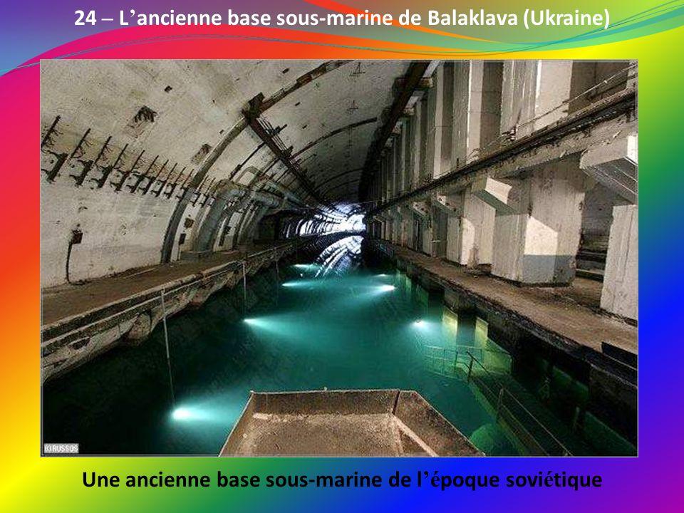 23 – L é glise Saint-Etienne-le- Vieux à Caen (France) Grandement d é truite lors des bombardements de Normandie en 44, l é glise est toujours visible
