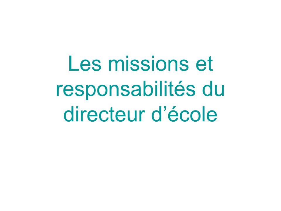 Les missions et responsabilités du directeur décole