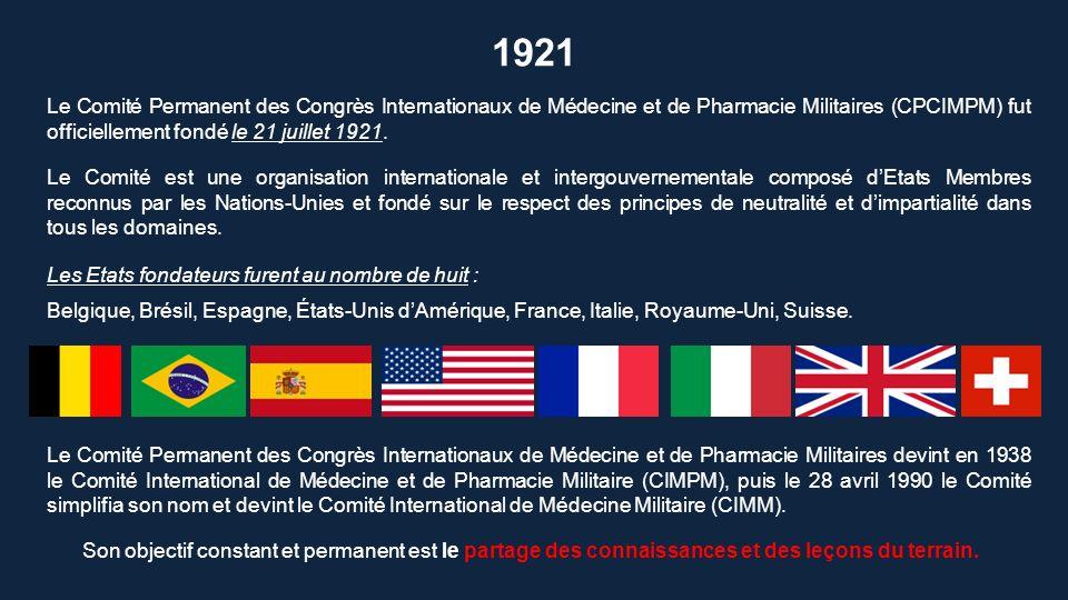 Actuellement, le CIMM est composé de plus de cent pays membres E TATS M EMBRES
