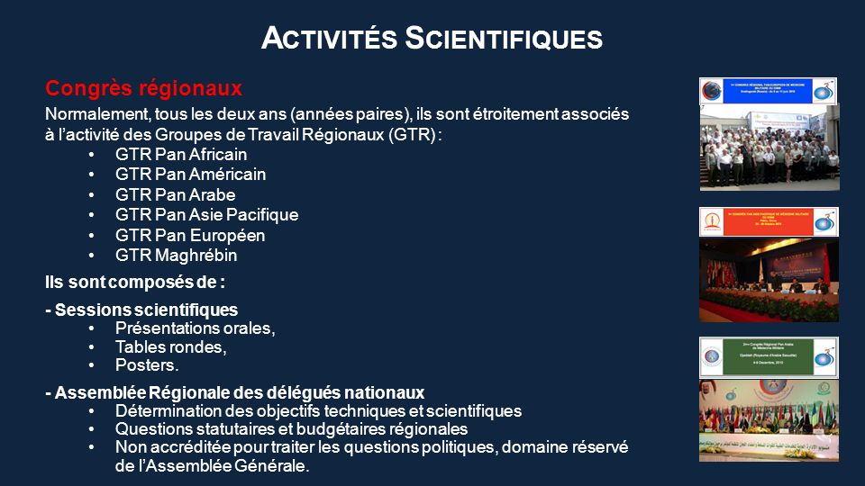 Cours Comme toutes les activités du CIMM, les cours sont soutenus et organisés par les Etats Membres hôtes.