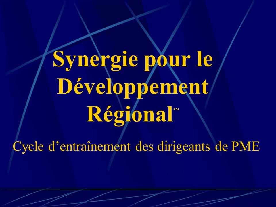 Synergie pour le Développement Régional Cycle dentraînement des dirigeants de PME
