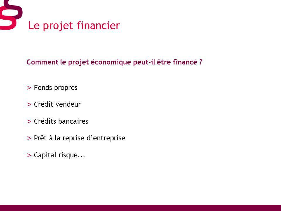 Le projet financier Comment le projet économique peut-il être financé .