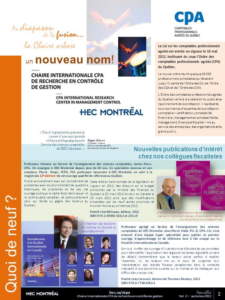 Nouvelles publications dintérêt chez nos collègues fiscalistes Quoi de neuf .