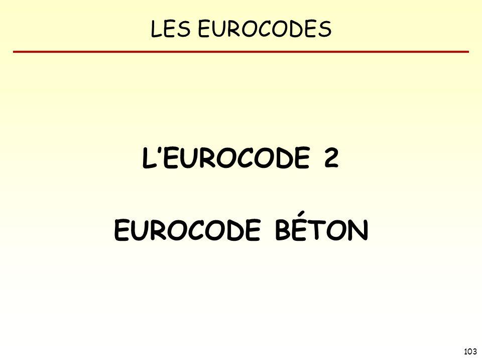 LES EUROCODES 103 LEUROCODE 2 EUROCODE BÉTON