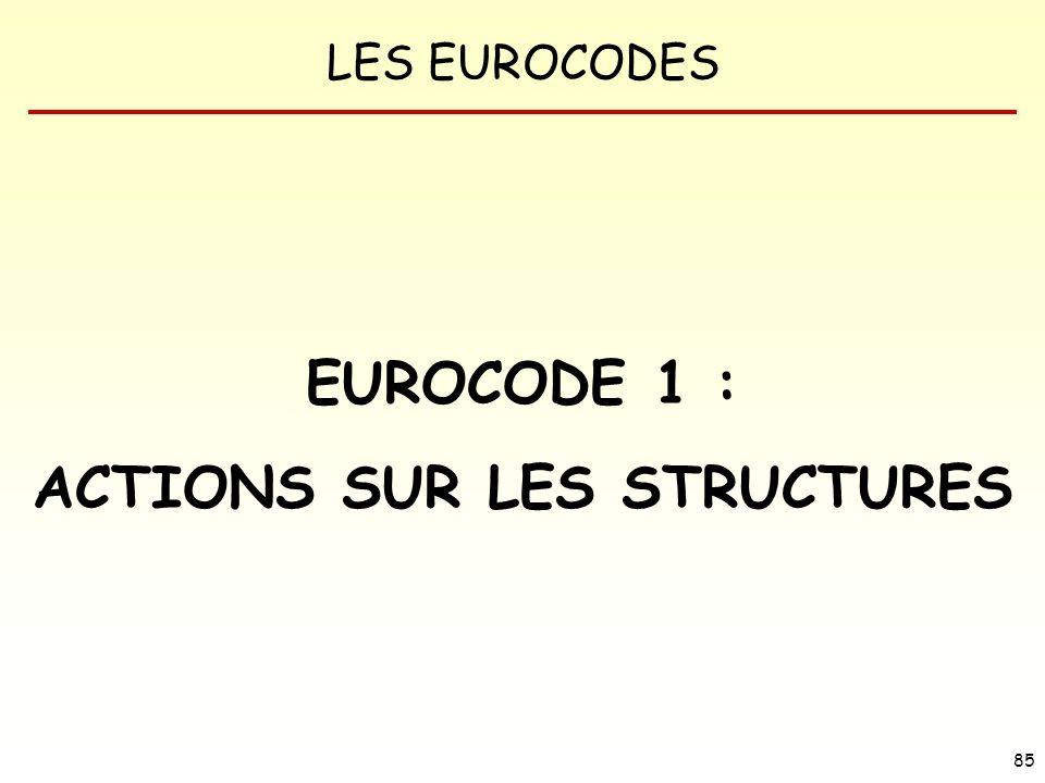 LES EUROCODES 85 EUROCODE 1 : ACTIONS SUR LES STRUCTURES