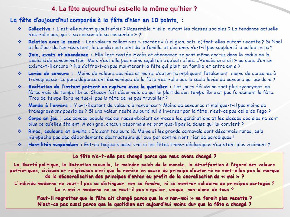 La fête daujourdhui comparée à la fête dhier en 10 points, : La fête daujourdhui comparée à la fête dhier en 10 points, : Collective : Collective : Le