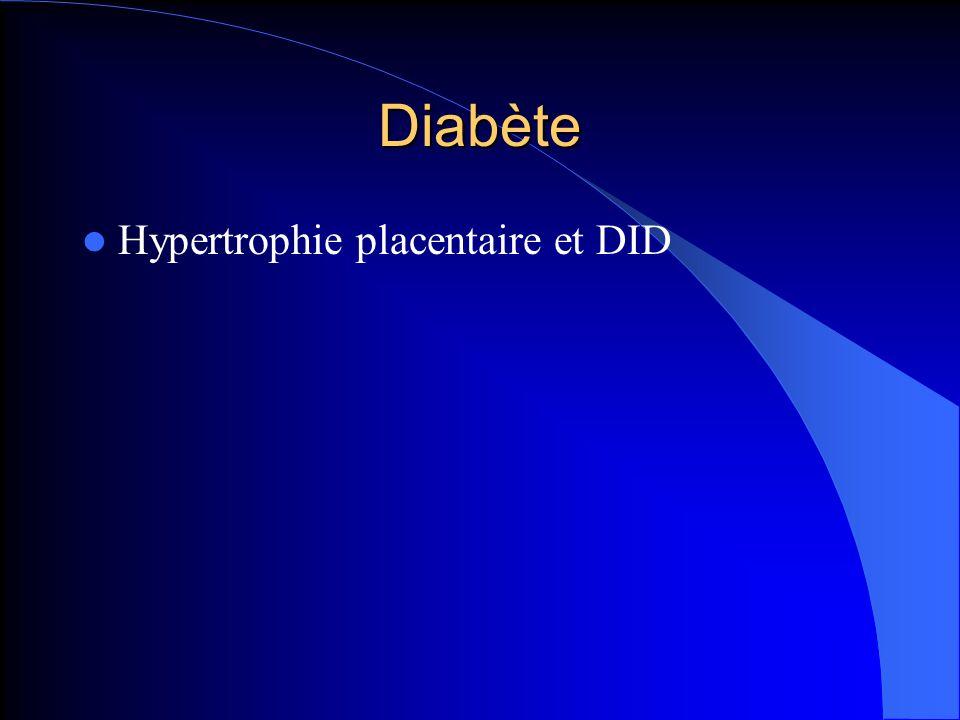Diabète Hypertrophie placentaire et DID