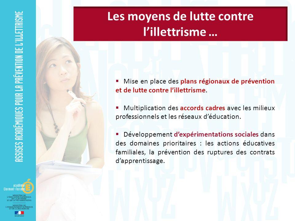 Mise en place des plans régionaux de prévention et de lutte contre lillettrisme.