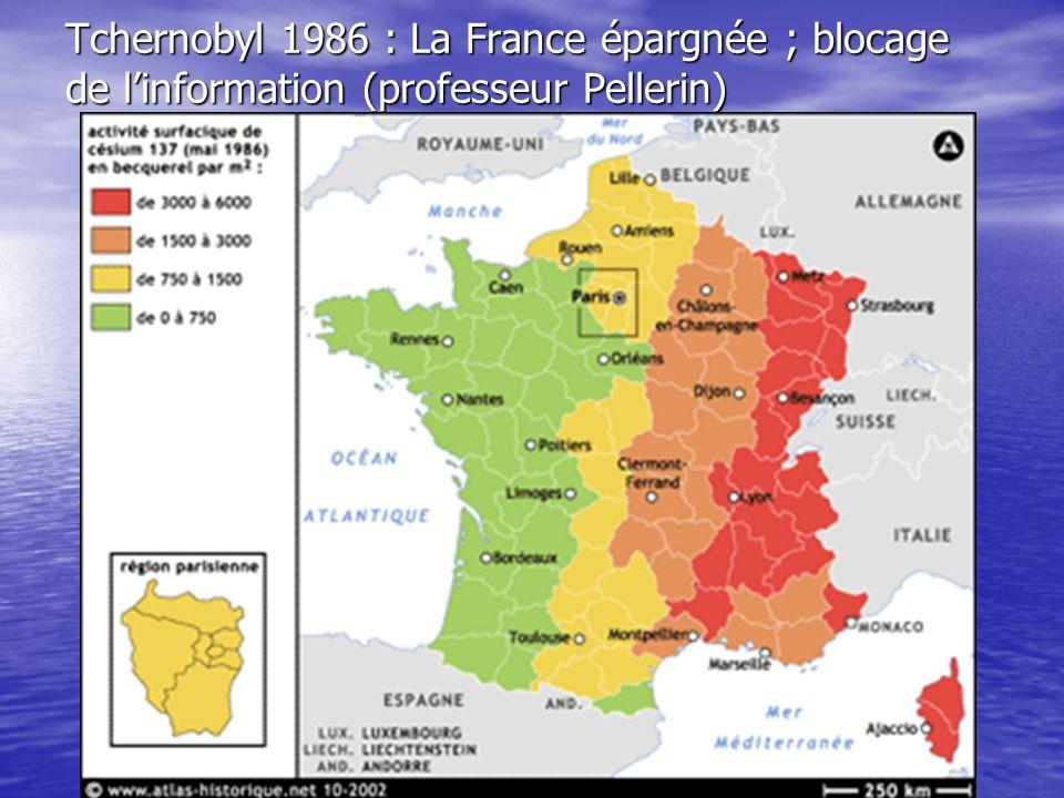 Tchernobyl 1986 : La France épargnée ; blocage de linformation (professeur Pellerin)