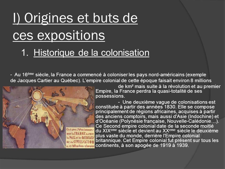 I) Origines et buts de ces expositions de km² mais suite à la révolution et au premier Empire, la France perdra la quasi-totalité de ses possessions.