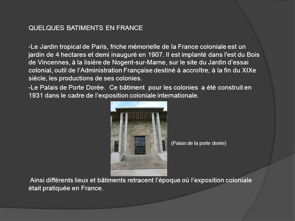 QUELQUES BATIMENTS EN FRANCE -Le Jardin tropical de Paris, friche mémorielle de la France coloniale est un jardin de 4 hectares et demi inauguré en 1907.
