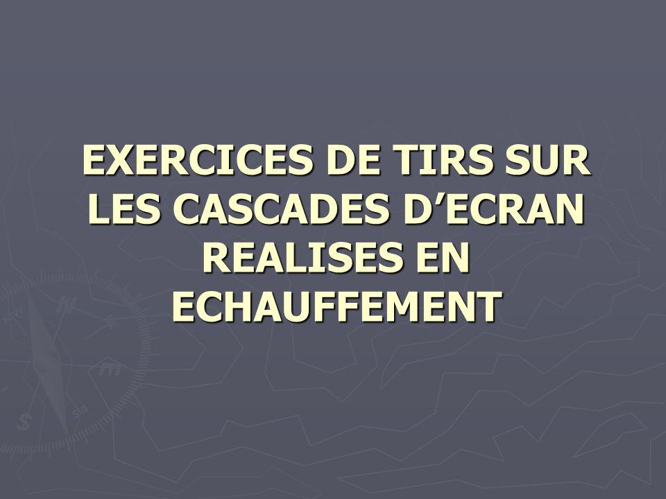 EXERCICES DE TIRS SUR LES CASCADES DECRAN REALISES EN ECHAUFFEMENT