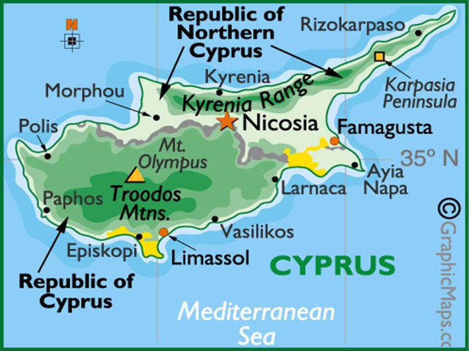 Superficie : 9 251 km2, dont plus dun tiers du territoire sous occupation de larmée turque depuis 1974.