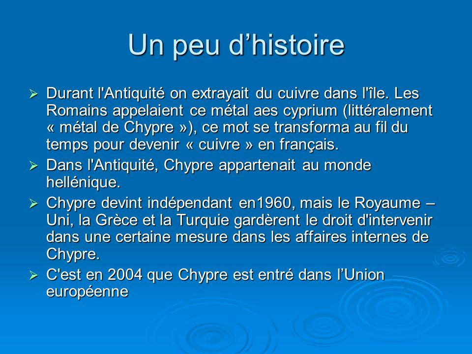 Un peu dhistoire Durant l Antiquité on extrayait du cuivre dans l île.
