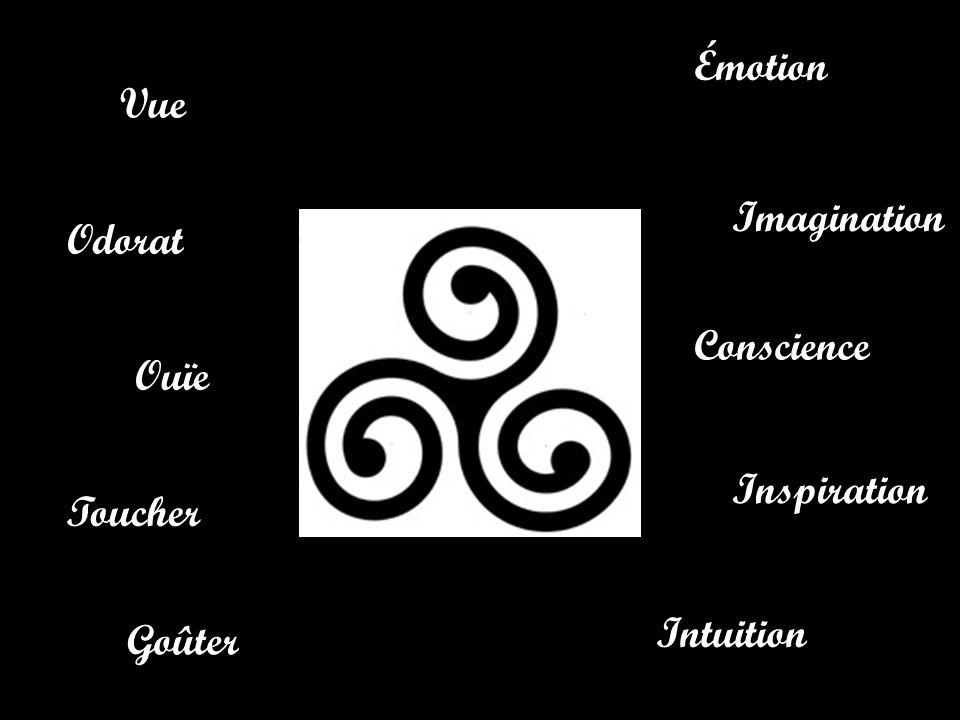 Émotion Imagination Intuition Conscience Inspiration Vue Odorat Ouïe Goûter Toucher