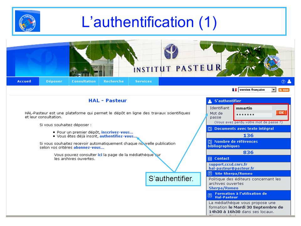 Lauthentification (1) Sauthentifier.