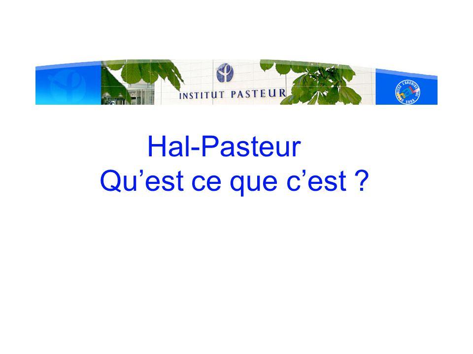 Accès à HAL-Pasteur (2) Depuis Webcampus Alerte sur les derniers dépôts