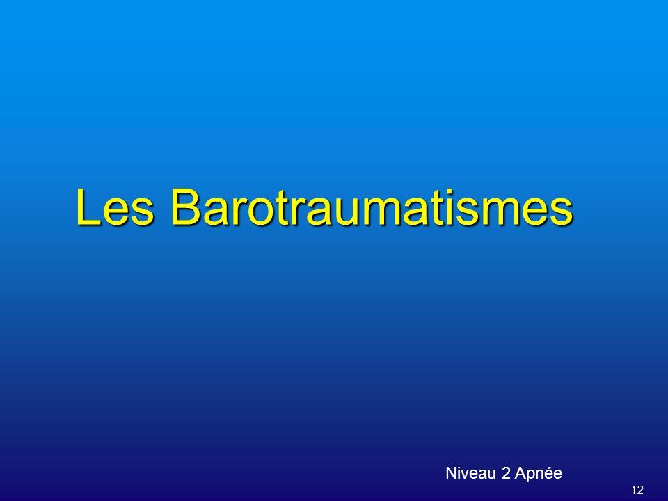 12 Les Barotraumatismes Niveau 2 Apnée