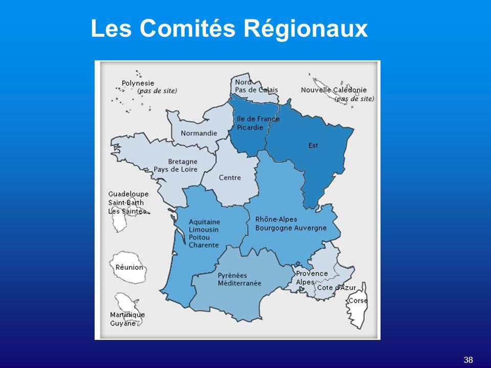 38 Les Comités Régionaux