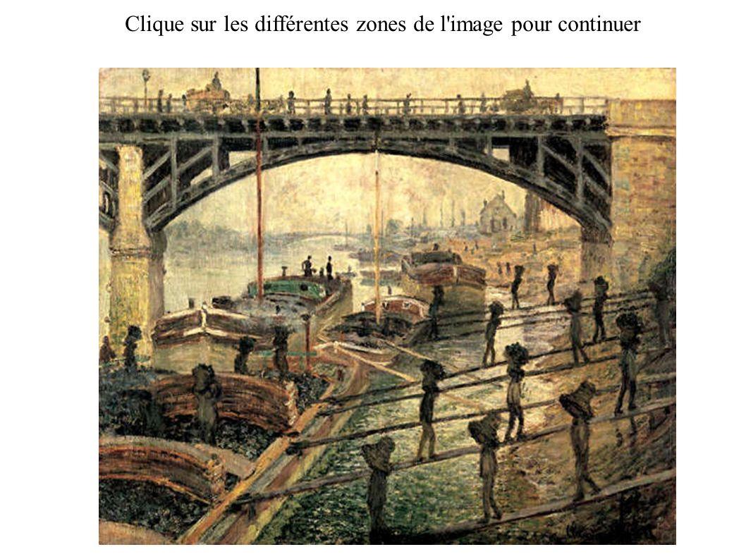 Claude Monet, les déchargeurs de charbon, 1875 Paris, musée d'Orsay AIDE Paysage rural (la fuite en Egypte), Joachim Patinir, v. 1524, musée de l'Ermi