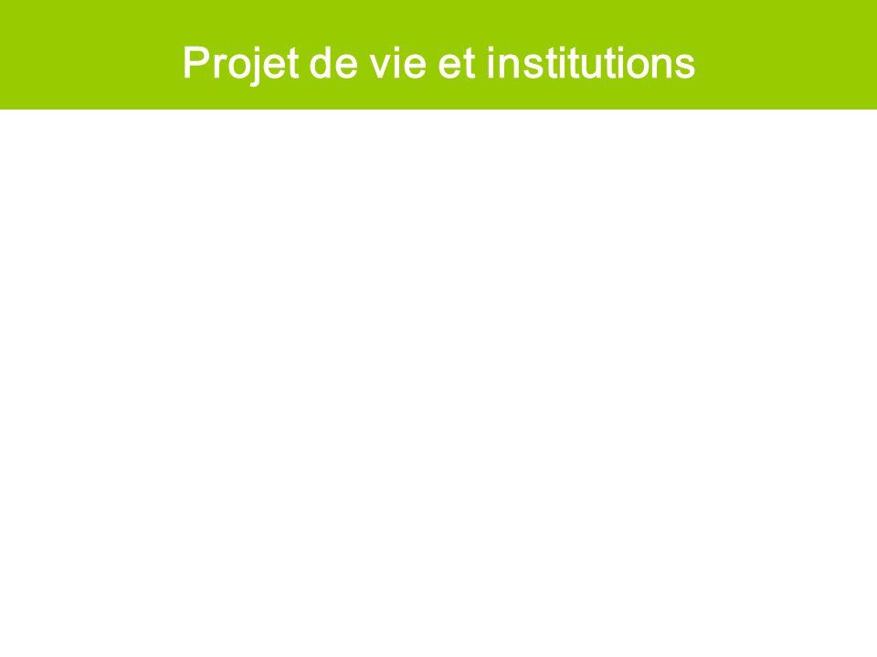 Projet de vie et institutions