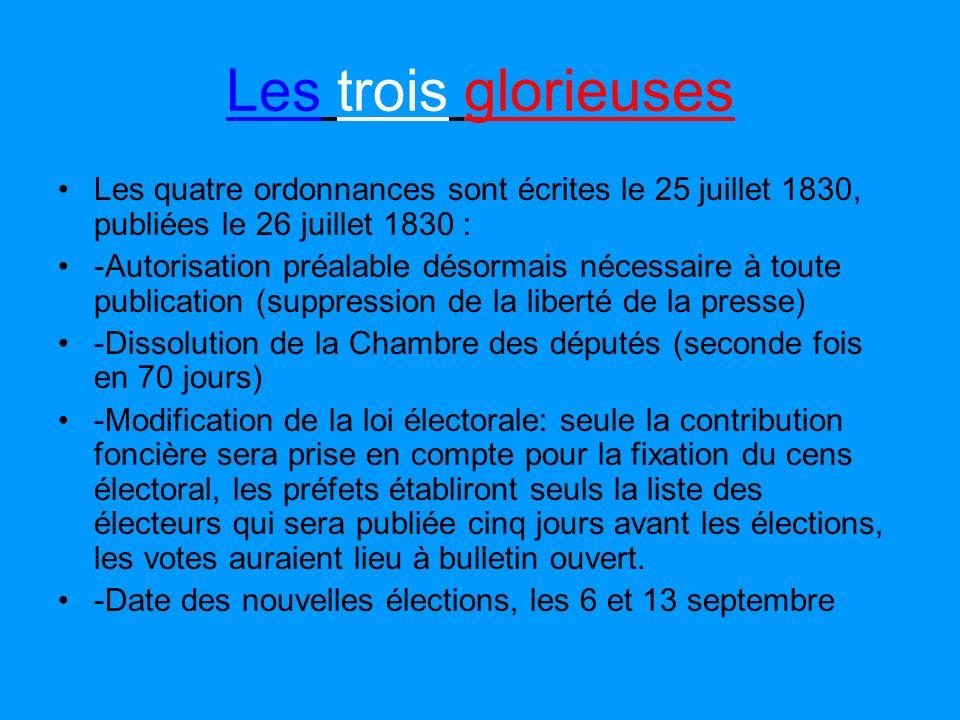 La révolution belge La situation en France Le roi ne cèdera pas, ne changera pas son ministère Polignac, minoritaire à la Chambre. Il déclare à son mi