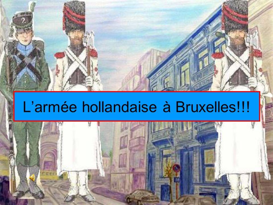 Des volontaires montent a Bruxelles Des volontaires patriotes montent de tout le pays!!!!!!! La garde bourgeoise de Bruxelles est débordée