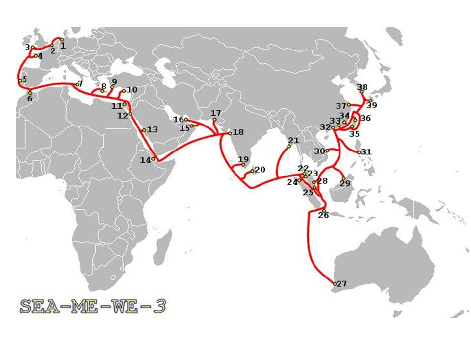 7) Calcule la longueur de la fibre optique SEA-ME-WE 3 entre lAllemagne et lAustralie .