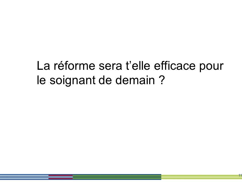 11 La réforme sera telle efficace pour le soignant de demain ?