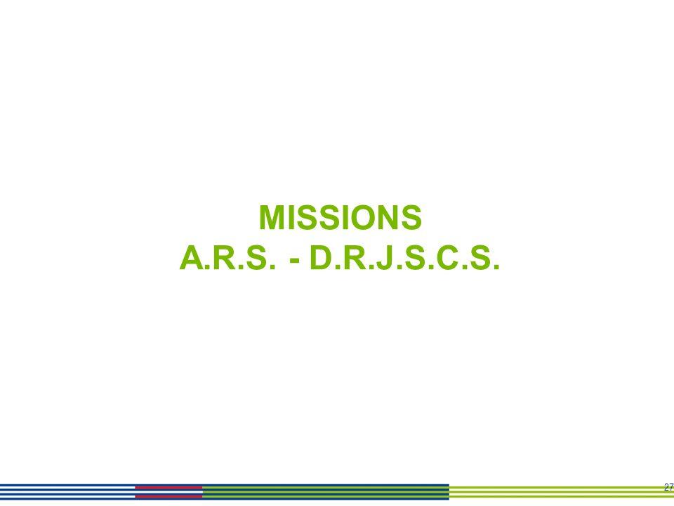 27 MISSIONS A.R.S. - D.R.J.S.C.S.