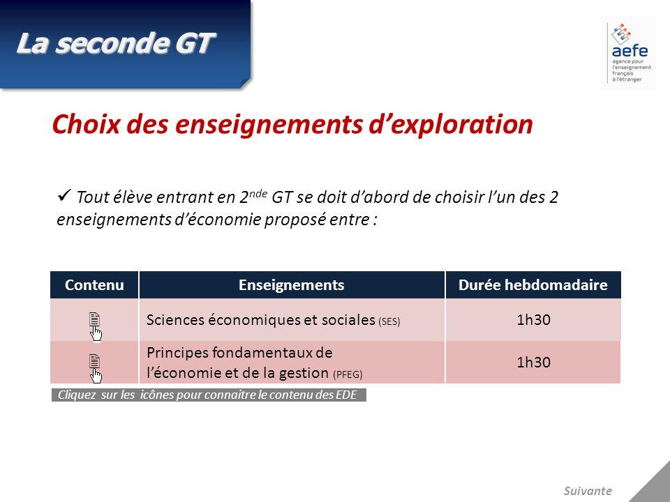 Tout élève entrant en 2 nde GT se doit dabord de choisir lun des 2 enseignements déconomie proposé entre : La seconde GT Choix des enseignements dexpl