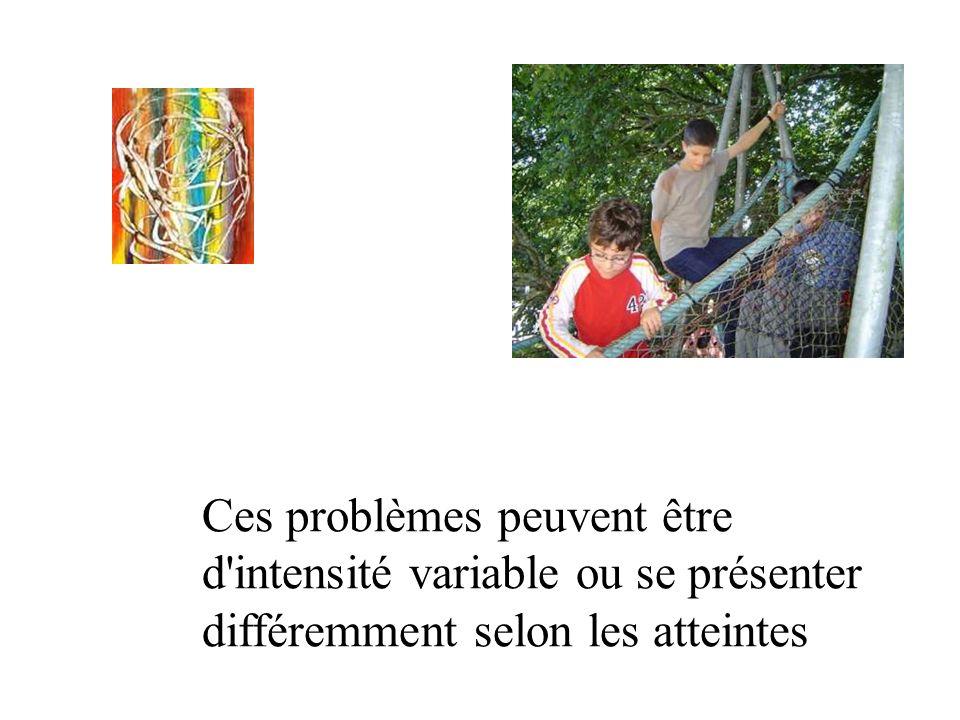 Ces problèmes peuvent être d'intensité variable ou se présenter différemment selon les atteintes