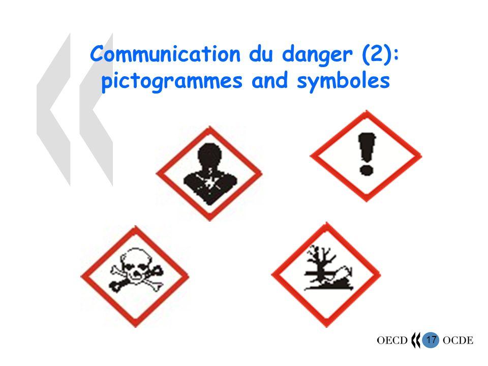 17 Communication du danger (2): pictogrammes and symboles