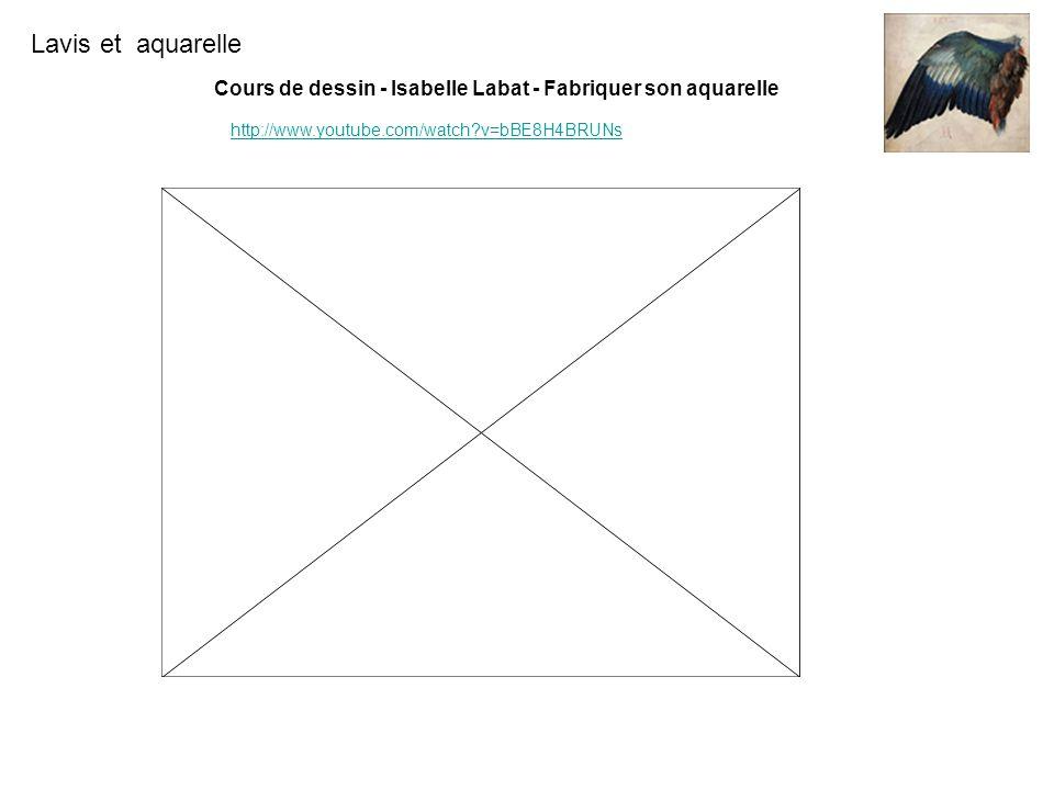 Lavis et aquarelle http://www.youtube.com/watch?v=bBE8H4BRUNs Cours de dessin - Isabelle Labat - Fabriquer son aquarelle