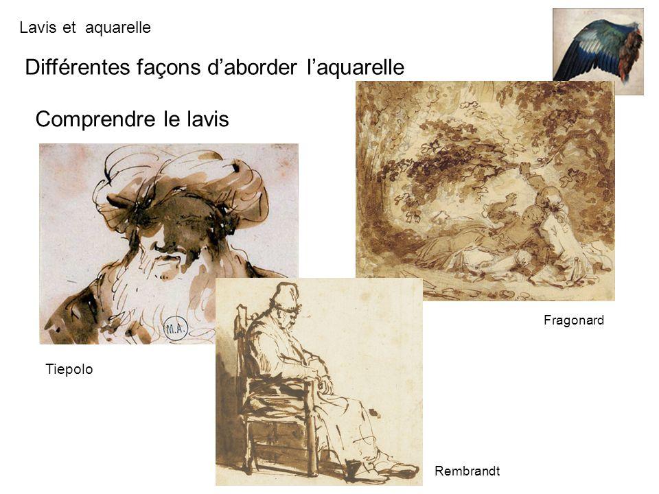 Lavis et aquarelle Du lavis à laquarelle Un lavis de Fragonard et une aquarelle de Delacroix