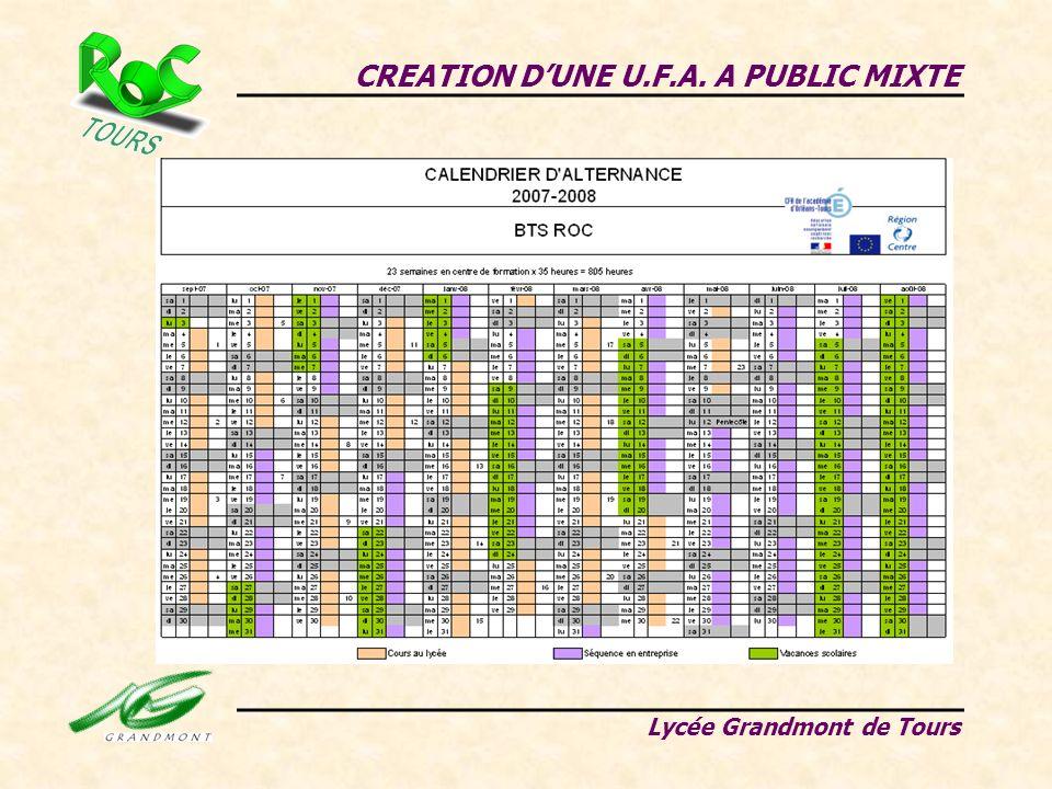 CREATION DUNE U.F.A. A PUBLIC MIXTE Lycée Grandmont de Tours