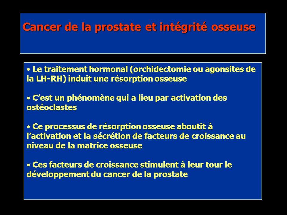 Oefelein et al., 2002 Les fractures pathologiques ont un impact négatif sur la survie globale des patients atteints dun cancer de la prostate