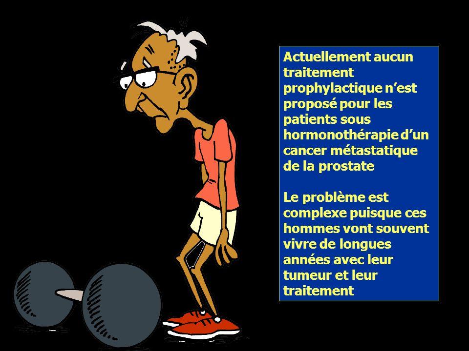 Risque silencieux dostéoporose chez les hommes atteints dun cancer de la prostate Seul 1 patient sur 7 (14.7%) atteints dun cancer de prostate et néce