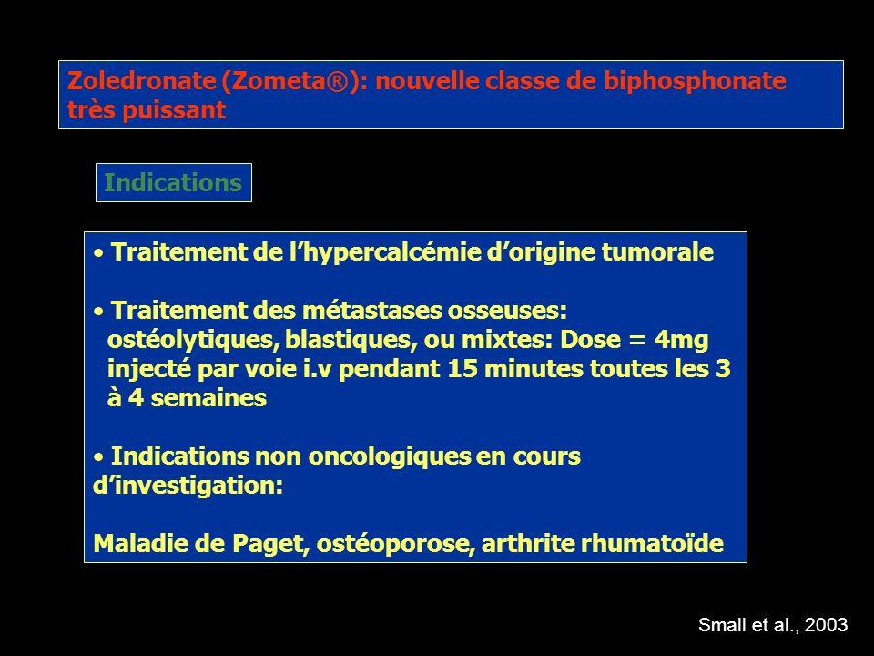 Utilisation clinique des biphosphonates: résultats Après injection unique de pamidronate (90mg) à des hommes sous hormonothérapie pour un cancer de pr