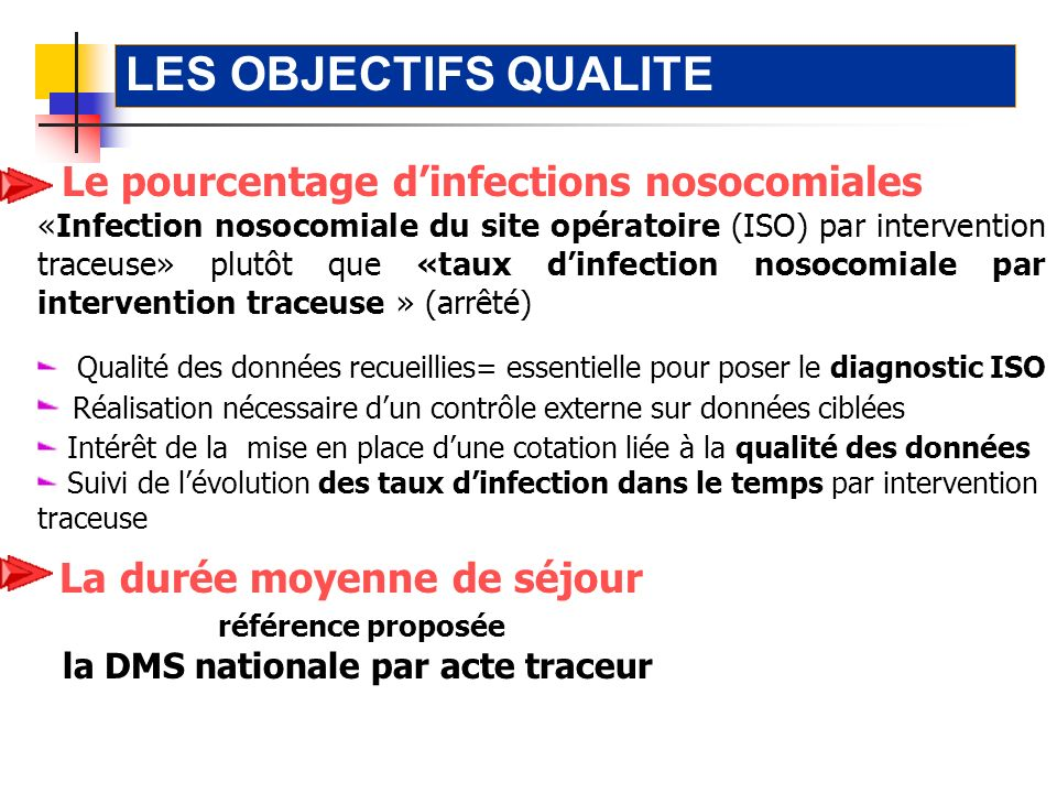Le pourcentage dinfections nosocomiales «Infection nosocomiale du site opératoire (ISO) par intervention traceuse» plutôt que «taux dinfection nosocom