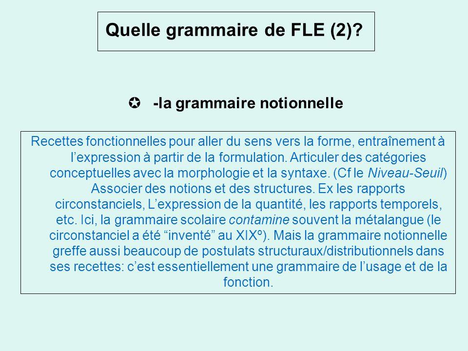 Quelle grammaire de FLE ? la grammaire implicite. Lapprentissage de la langue en situation de communication: faire découvrir les liens entre ressource