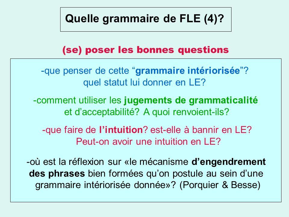 Quelle grammaire de FLE (3)? La grammaire explicite. la progression grammaticale souvent est déterminée par le degré de difficulté de la langue. La gr